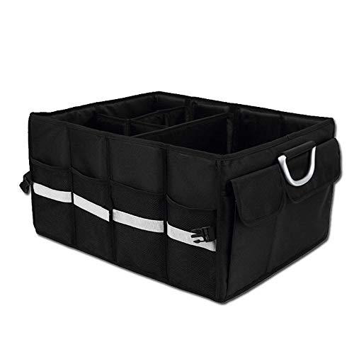 ZHAOPAI Opvouwbare Draagbare Auto Boot OrganiserTidy-Trunk finisher waterdicht Oxford doek materiaal gemakkelijk schoon te maken - voor auto's/SUV 58 * 35 * 30cm Zwart
