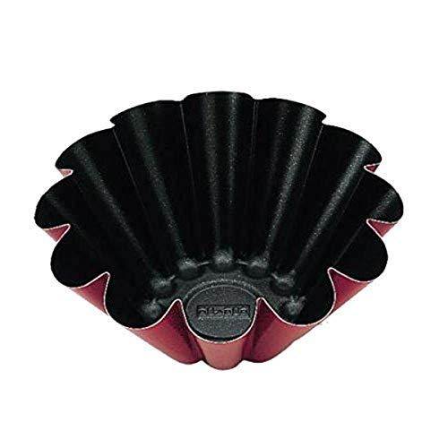 IBILI 355218 Moule à brioche, Acier, Noir/Rouge, 18 x 18 x 5 cm
