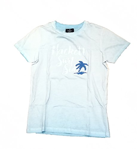 Hackett London - Camiseta de Manga Corta - Cuello Redondo - para niño Azul Azul Medium