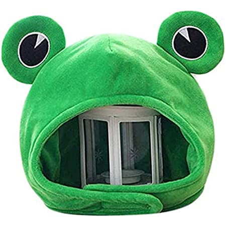 Details about  /Cartoon Animals Ear Hat Costume Headwear Plush Hat Headband Winter  Frog