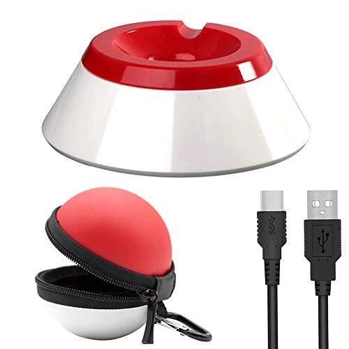 Bescita Ladegerät für Nintendo Switch Poke Ball Typ-C mit Tragetasche Schutzhülle für Pokeball Plus Controller Tasche - Eva Wasserdichte Hülle/Case / Tragetasche