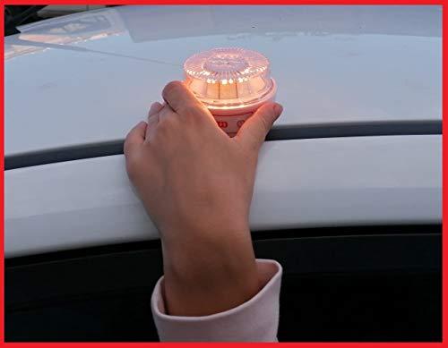 Bottari V16 BALIZA LUZ Emergencia Luz de Emergencia Autónoma | Luz LED | Señal V16 de Preseñalización de Peligro Homologada - (Autorizada por la DGT)