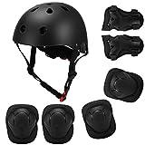 キッズ7 in 1ヘルメットとパッドセット調節可能なキッズ膝パッド肘パッドスクーター用リストガードスケートボードローラースケートサイクリング