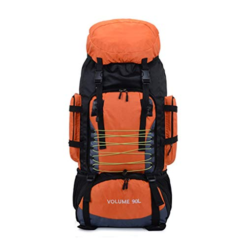 hhh Outdoor Backpacks, 90L Nylon High Capacity Travel Backpack Waterproof Luggage Backpack Camping Tent Backpack for men and Women the Climb Travel Ski Backpack (Color : D)
