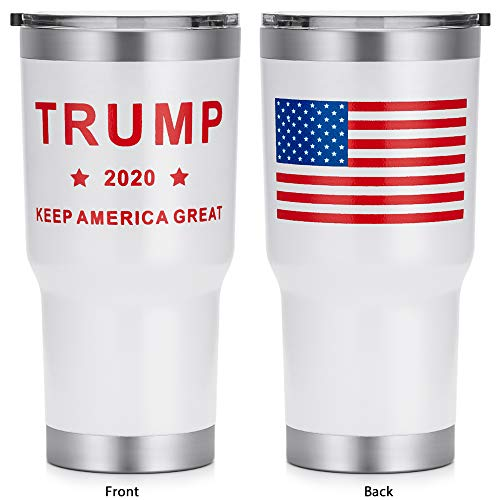 Trump 2020 Double Wall Stainless Steel Insulated Travel Coffee Mug with Lid Now $15.59