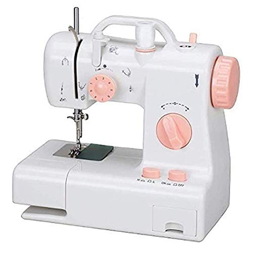 HWZQHJY Mini Sewing Machine, Household Tool for Fabric, Crafts, Home Travel Use Lightweight