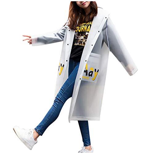 Women Hooded Raincoat EVA Adult Protective Anti-Dust Windproof Sustproof Rain Jackets