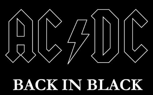 AC/DC Back in Black Musik Hochwertigen Auto-Autoaufkleber 12 x 10 cm
