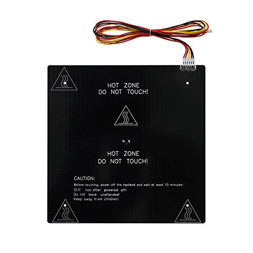 Aibecy - Piastra riscaldante per stampante 3D Hotbed MK3, 24 V, piastra in alluminio, 310 x 310 x 3 mm, con filo hotbed da 90 cm, compatibile con CR-10 / CR-10S / CR-10S Pro/Sapphire Plus