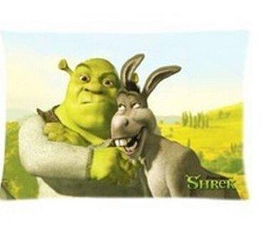 Fnigst Pillow Funda de Almohada Suave Shrek de 20 x 30 Pulgadas, Dos Lados