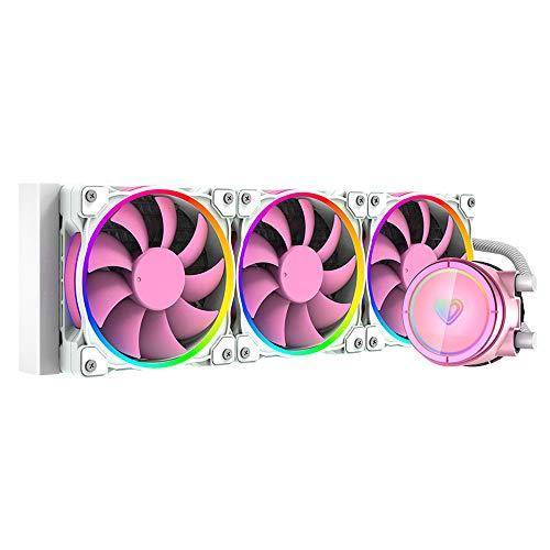 ID-COOLING PINKFLOW 360 - Enfriador de agua para CPU de 5 V direccionable RGB AIO Cooler 360 mm CPU Liquid Cooler 3X120 mm RGB Ventilador, Intel 115X/1200/2066, AMD AM4 (controlador de cable incluido)