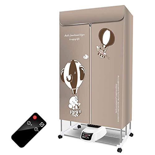 GJQDDP Seche Linge Condensation, Mini seche Linge Ménage Portable avec 4 Roues universelles Séchage à Trois Vitesses chronométré de 240 Minutes, Chauffage de séchage de Placard