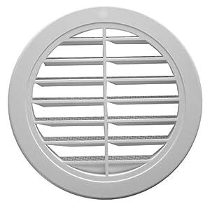blanc La ventilation t16drb-y Grille ronde en plastique encastrable