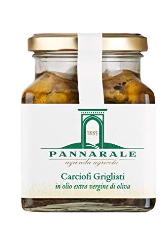 Agricola Pannarale - Alcachofas a la parrilla - típicas de Apulia - en aceite de oliva virgen extra gr.28