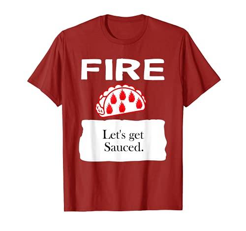 FUEGO - Disfraz de taco caliente Camiseta