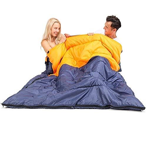 BABY Couple Double Personnes Sac De Couchage, Enveloppe Rectangulaire Sac De Couchage pour Adultes Camping, Randonnée