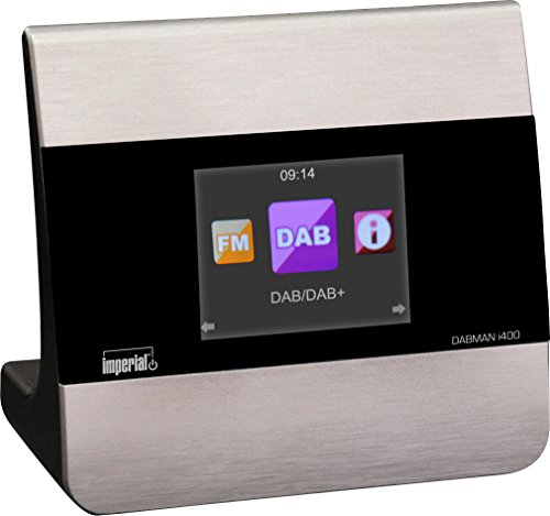 Imperial 22-240-00 Dabman i400 Internet-/DAB+ Radio Adapter (Stereo Sound, Internet/DAB+/DAB/UKW, Bluetooth, Multiroom, Equalizer, UPnP-Audio Streaming, WLAN, LAN, Line-Out inkl. Netzteil) silber