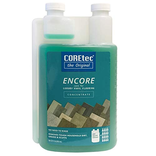 COREtec ENCORE 03Z78 Floor Cleaner Care for Luxury Vinyl Flooring Concentrate 32 oz (Refills 16x)