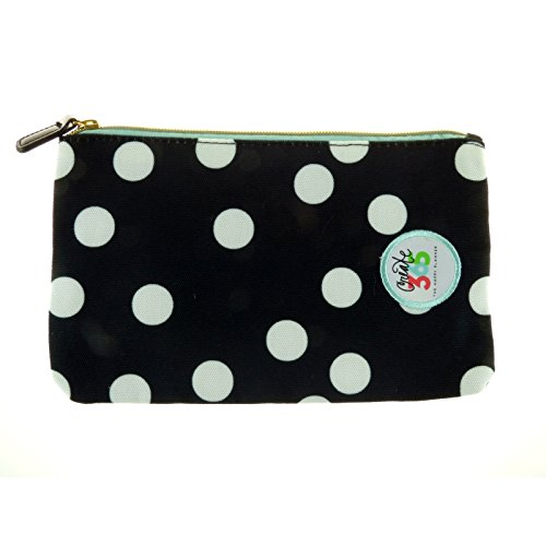 me & my BIG ideas Zippered Storage Pouch With Elastic Band - Black & White Polka Dot - The Happy Planner Scrapbooking Supplies - Pouch for Pens, Pencils & Small Accessories - Fits Classic & Big Size