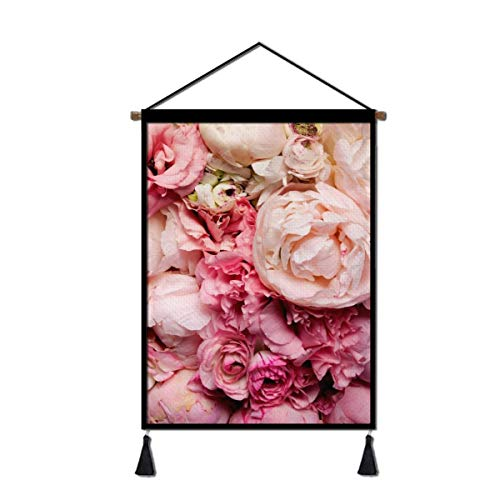 Canvas Wall Hanging Poster, Rose Artwork Paintings for Living Room Bedroom Office Home Decoration Ready to Hang