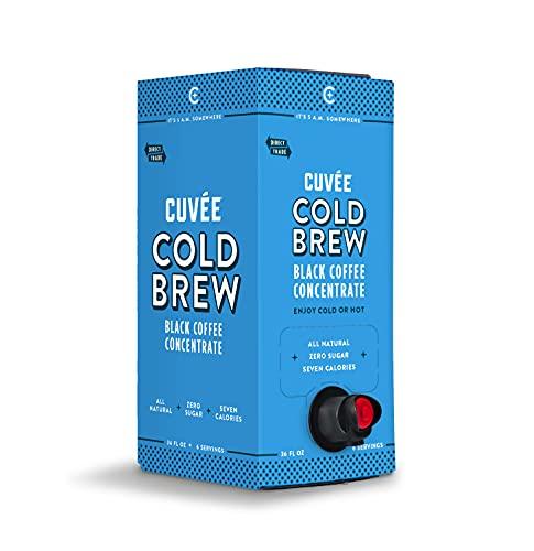 Cuvée Cold Brew Black Coffee Concentrate, Arabica, Direct Trade, 36oz