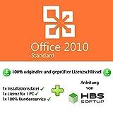 MS Office 2010 Standard 32 bit & 64 bit Vollversion Multilingual - Original Lizenzschlüssel per Post und E-Mail + Anleitung von HBS SOFTUP® - Versand max. 60Min