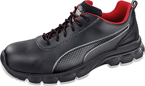 Puma 640521-202-46 Pioneer Low S3 ESD SRC - Zapatillas de seguridad (talla 46, negro/rojo/blanco)