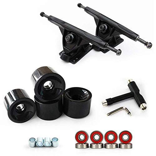 Skate Wheels Set, 5,0 Skateboard Achsen, Rollen, Lager ABEC 11, Pads, Hardware 1