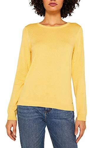 ESPRIT Damen 999Ee1I801 Pullover, Gelb (Yellow 750), Small (Herstellergröße: S)