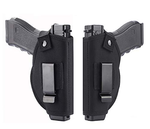 TACwolf 2 Pack Holster Right Left OWB IWB Universal for Inside Concealed Carry Holster for G17 19 23 25 26 27 29 30 32 33 38 42 43 S&W M&P Shield Springfield XD XDS Ruger