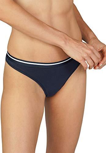 Mey Basics Serie Cotton Pure Damen Strings Blau 38