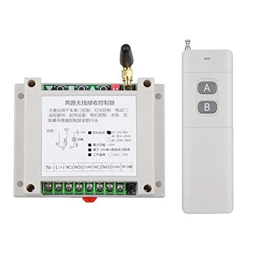 DC12V-24V 36V 48V Interruptor remoto inalámbrico bombas de agua lámpara mando a distancia universal de alto rendimiento 2 canales módulo de potencia de control industrial