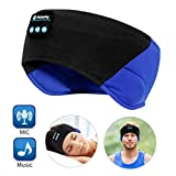 Bluetooth Sleep Headphones - The Young's Bluetooth Sport Headband Wireless Sleeping Headphones for Workout Jogging Yoga - Black and Blue