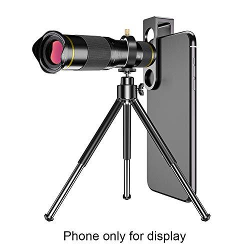 Handy-Kameraobjektiv-Set, 48x externes Teleskop, optischer Zoom, Monokular-Objektiv, Universal-Clip für Smartphones, nicht null, rot, Free Size
