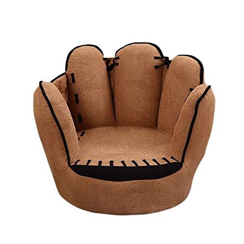 PuuuK Kinder Sofa Stuhl Kreativ Baseball-Handschuh Sessel Wildleder Bequem Und Weich Geeignet Für Herbst Und Winter,Deerskin Velvet