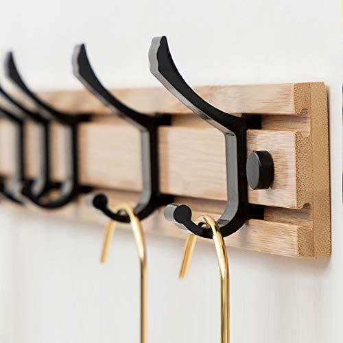 anruo Wandkapstok houten plank kleding badhanddoek hanger woonkamer slaapkamer badkamer plank huishoudelijke artikelen