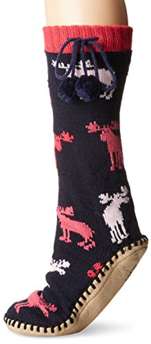 Hatley Little Blue House by Damen Mukluk Slippers Stoppersocken, Raspberry Mouse, Small/Medium