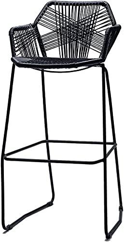 WWJ stołek barowy rattanowe krzesło do pubu w stylu Vintage blat kuchenny stołek krzesło do jadalni na świeżym powietrzu stołek barowy ogrodowy 3 kolory 580cm / 650cm / 750cm