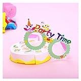 OYZK 24pcs Cumpleaños Cumpleaños Decoración Fiesta de Cumpleaños Fotografías Marcos Photo-Booth Prop Party Suministros para niños (Estilo Aleatorio)
