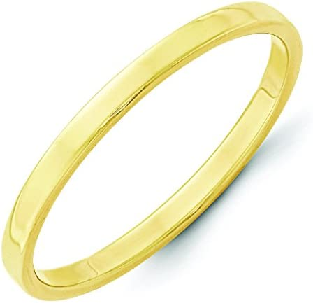 Jewelry Pilot 10K Yellow Gold 2mm Cut Wedd Flat Pipe Lightweight Max 80% Large special price !! OFF