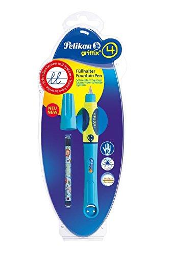 Pelikan 809184 Füller Griffix für Rechtshänder Neon Blau