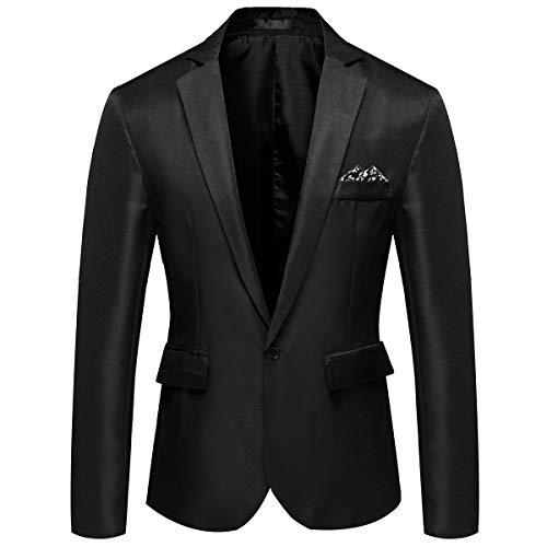 YOUTHUP Blazer para Hombre Elegante Slim Fit Ligero Chaqueta de Traje