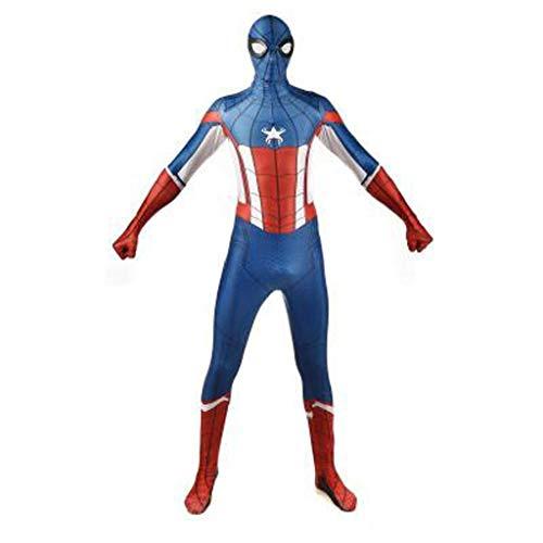 Attrezzature Fun 3D Stampa Digitale Anime Movie Personaggio Comico Spider-Man Capitan America Tuta Tights Cosplay Halloween Costume Cosplay (Color : A, Size : S)