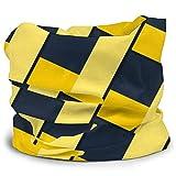 Dydan Tne Bufanda de línea Cruzada Amarilla Abstracta, Diadema, máscara para el Cuello, Polaina, Bufanda para el Cuello, Calentador de Cuello para Mujeres y Hombres, Personalizado