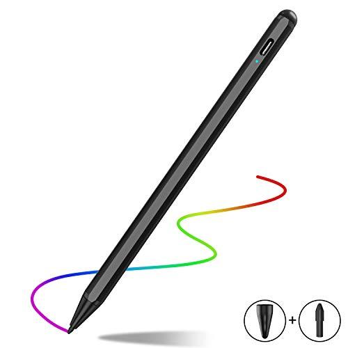 MPIO Stylus Stift 2. Generation mit Palm Rejection für Apple iPad 2018-2020, Feine Spitze, Hochpräziser Bleistift zum Zeichnen und Schreiben auf iPad 7./6./Air 3./Mini 5./ Pro 11(1./2.)/12.9(3./4.)