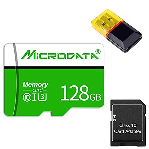 Gmjay Tarjeta de Memoria USB Flash TF de Alta Velocidad con Tarjeta Micro SD de Clase 10 con Lector de Adaptador,128GB