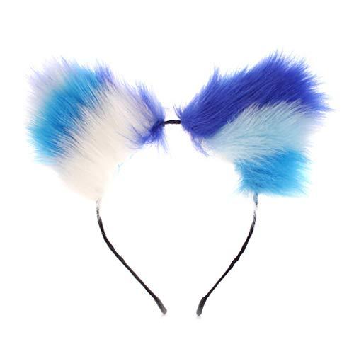 VVXXMO Horquilla para el pelo con orejas largas y lindas para mujer, anime japons, para disfraz de Halloween, accesorio para el pelo