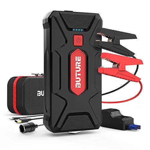 BuTure Avviatore Batteria Auto, 1600A 20000mAh Booster Avviamento Auto Portatile Avviatore Emergenza per Auto Moto (Motori Fino a 8.0L Benzina  7.0L Diesel) (1600A)