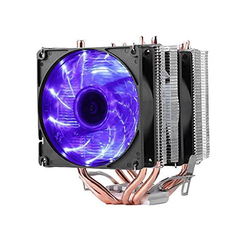 Enfriador de aire de la CPU, 98m m luz azul 4 tubos de calor disipador de calor Twin-torre, compatible Intel LGA1151, AMD AM4 etc.