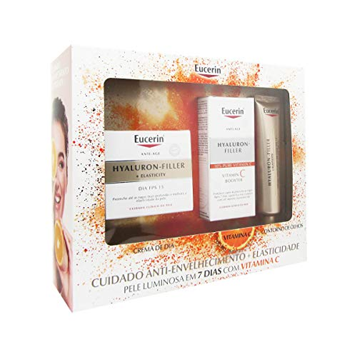 Eucerin Pack Hylaluron Filler + Elasticity Day Cream Spf 15 50ml + Vitamin C Booster 8ml + Elasticity Eye Contour 15ml